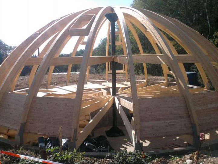 Multi steel conceptions m talliques sur mesure for Maison dome en bois